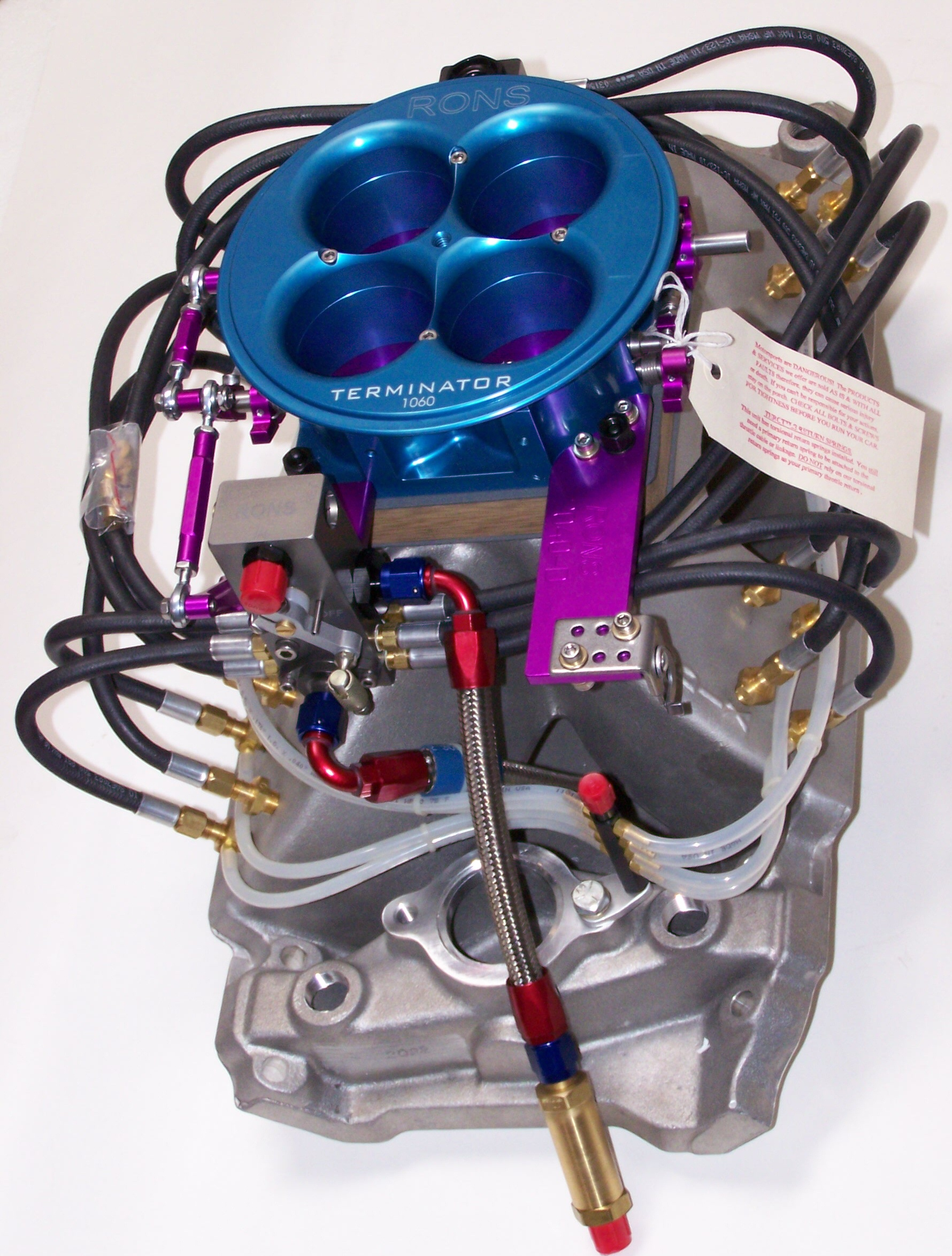 Rons fuel injection systems terminator system with two sets of nozzles freerunsca Choice Image